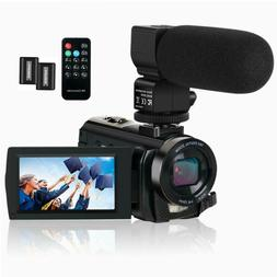 "Video Camera Camcorder HD 1080P 24MP 3"" LCD 16X Microphone N"