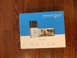 Ring Video Doorbell 3 in Satin/Nickel Brand New