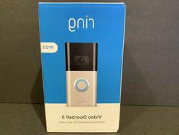 Ring Video Doorbell 3 Satin Nickel Venetian Bronze Brand New