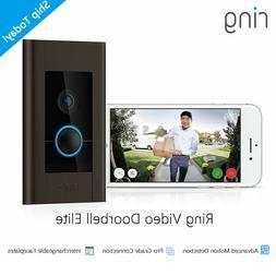 Ring Video Doorbell Elite 1080P HD, Works W/ Alexa, Live Vie