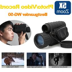 WG-50 6X50 5MP Digital IR NV Night Vision Monocular Record D