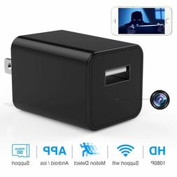 Wi-Fi Charger Camera Motion Night Vision 1080P Monitor Remot