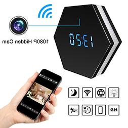Wi-Fi Wireless Security Camera Alarm Clock – Bysameyee HD