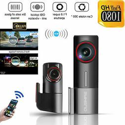 WiFi 1080P Car Camera Dual Dash Cam Front and Rear Night Vis