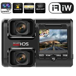 Wifi FHD Dash Cam Infrared Night Vision Dual 1080P Front and