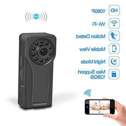 Youlanda Wifi Hidden Spy Camera, Mini Body Camera 1080P HD M