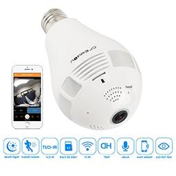 Wifi Light Bulb Camera - Night Vision CA