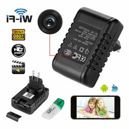 WIFI Spy Camera Hidden Lens Wall Charger IP Cam HD 1080P Rea