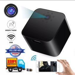 WiFi USB Wall Charger spycam full HD1080P Motion Night Visio