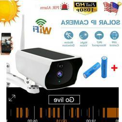 Wifi Wireless 1080P Solar Power IP Camera Home Security Nigh