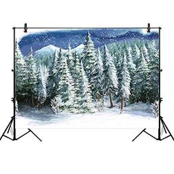 Allenjoy 10x6.5ft Winter Landscape Backdrop for Studio Photo