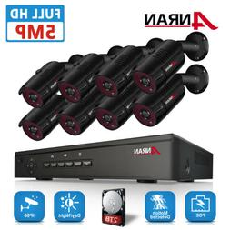 ANRAN Wired Security Camera System 2TB Video 8CH 1920P POE N