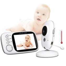 Wireless 2 Way Audio Talk Color Video Baby Monitor with 3.2""