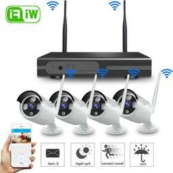 Wireless 8CH CCTV NVR Outdoor IR Night Vision WiFi Camera Ho