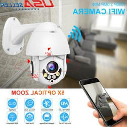 Wireless 5X Zoom 1080P HD Wifi Outdoor CCTV IP Camera PTZ Se