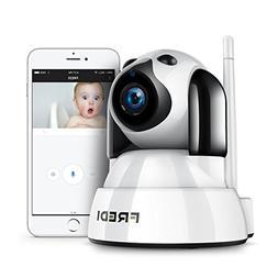 FREDI Baby Monitor Wireless 720P Security Camera, WiFi Home