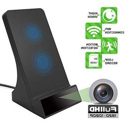 1080P Wireless Charger Hidden Camera with Night Vision Motio