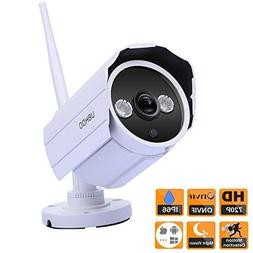 UOKOO Wireless IP Security Bullet Camera, 720P HD Waterproof