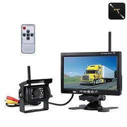 KASIONVI 2.4G wireless camera and monitor kit,7inch TFT-LCD