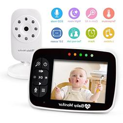 """Wireless Video Baby Monitors with 3.5"""" Large LCD Screen Nigh"""
