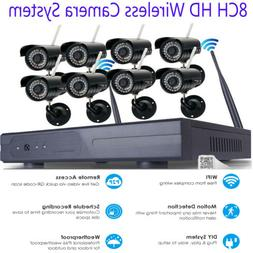 Wireless Security IP Camera System 4/8CH 1080p WIFI NVR Nigh