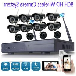 wireless security ip camera system 8ch 1080p