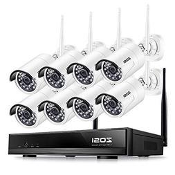 ZOSI FULL HD 1080P Wireless Security Camera System 8CH 1080P