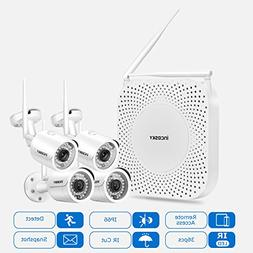 Wireless Security Camera System incoSKY 1080P WiFi Video NVR