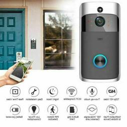 Wireless Smart WiFi DoorBell IR Video Visual Camera Night Vi