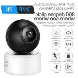 Wireless WiFi HD 2K 3MP IP Camera CCTV IR Night Vision Secur