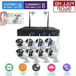 Wireless WiFi IP Camera 960P 4/8CH HDMI IR-CUT Home Security