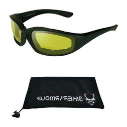 Z87 Night Vision Yellow Bifocal Motorcycle Safety Glasses Re