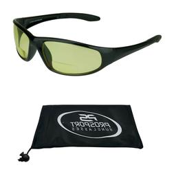 Z87 Safety Yellow Lens Night Vision Bifocal Reader Glasses D